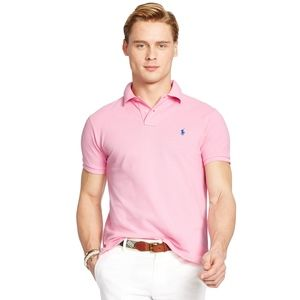 Men's Ralph Lauren Polo Shirt in Light Pink